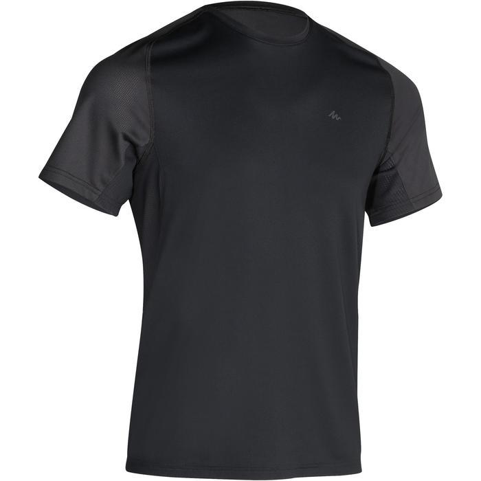 Tee Shirt Manches Courtes Randonnée Tech Fresh 100 homme Gris foncé - 1129953