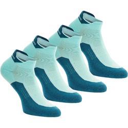 低筒自然徒步襪。Arpenaz 100 2 雙- 天空藍