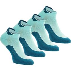 Low Cut Nature Hiking Socks. Arpenaz 100 2 Pairs - Sky Blue