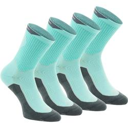 高筒自然徒步襪。Arpenaz 100 2 雙高筒襪 天空藍