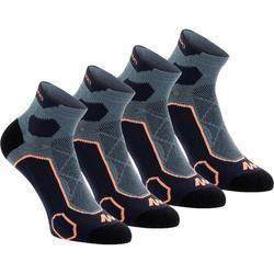 Calcetines de senderismo en montaña media caña. 2 pares Forclaz 500 azul fluo