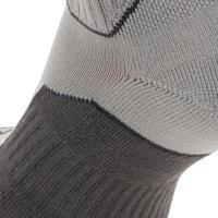 2 pares de calcetines travesía naturaleza altura media adulto Arpenaz 100 gris
