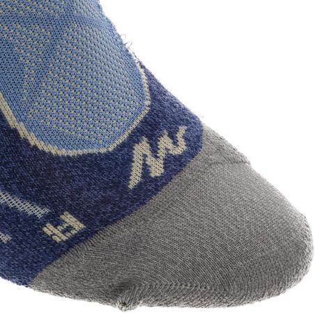 Mid-Length Mountain Hiking Socks. MH 900 2 Pairs - blue/grey