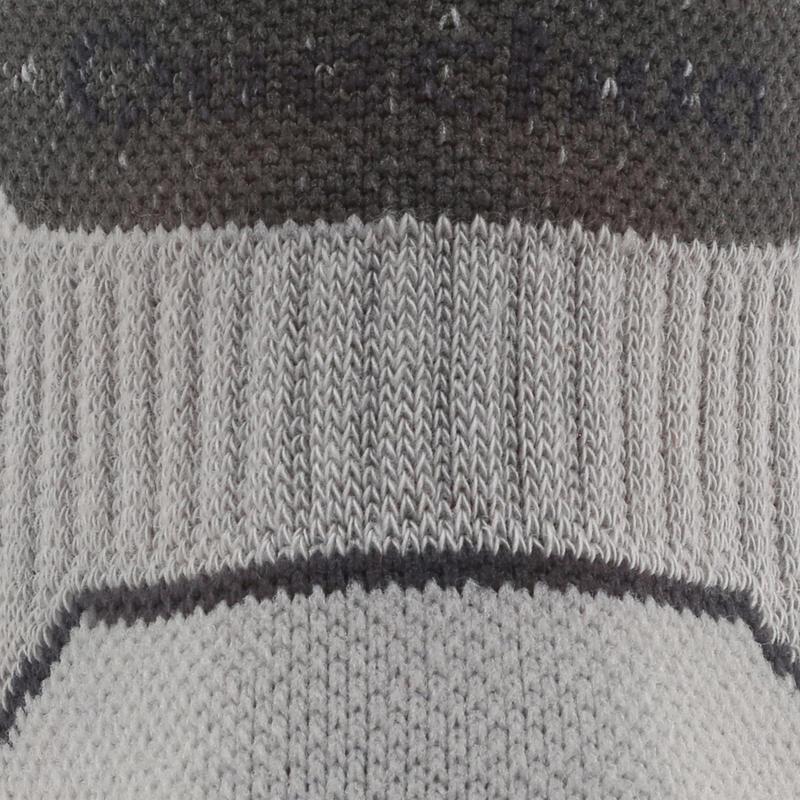 Country walking Mid socks X 2 pairs NH 500 - Grey