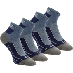 Halfhoge sokken voor bergwandelenen 2 paar MH 900 blauwgrijs
