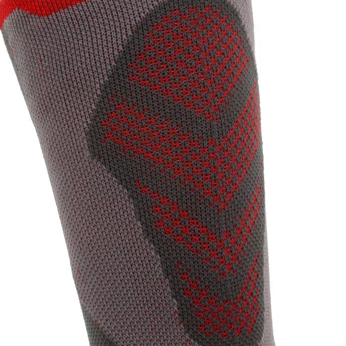Chaussettes de randonnée montagne tiges high. 2 paires MH 520 rouge