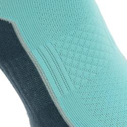 High upper Nature Hiking Socks. Arpenaz 100 2 Pairs - Sky blue