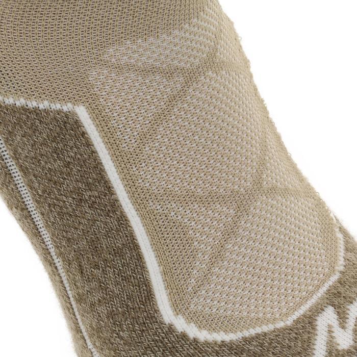 Hoge sokken voor bergwandelenen. 2 paar MH 900 beige