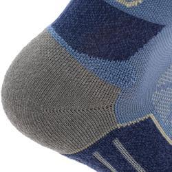 Calcetines de senderismo montaña media caña. 2 pares MH 900 azul gris