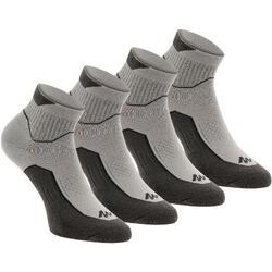 中筒自然健行運動襪2雙入 Arpenaz - 灰色