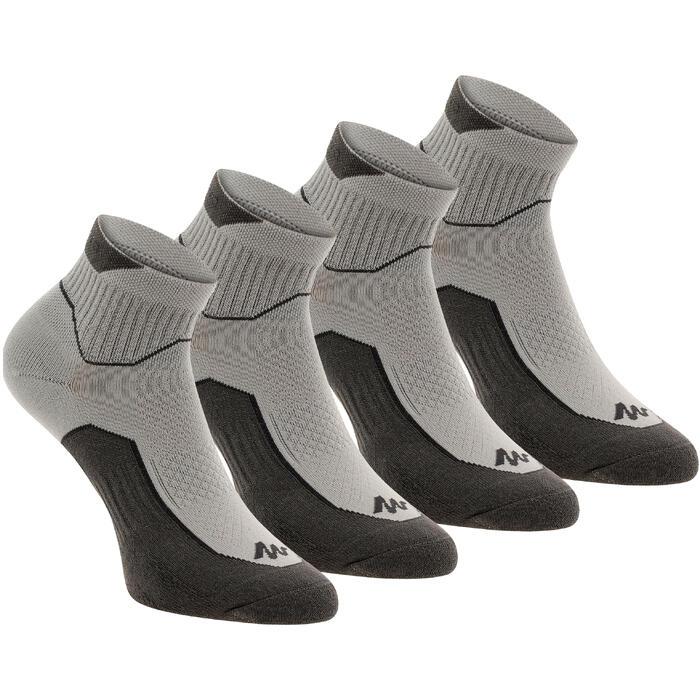 Calcetines de senderismo naturaleza NH500 media caña gris x 2 pares