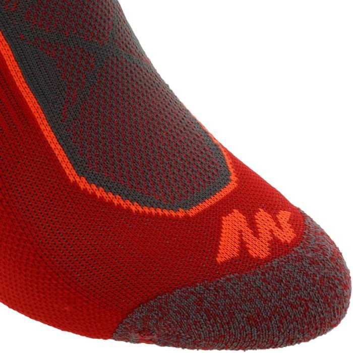 Calcetines de senderismo en la montaña caña alta. 2 pares Forclaz 520 D rojo