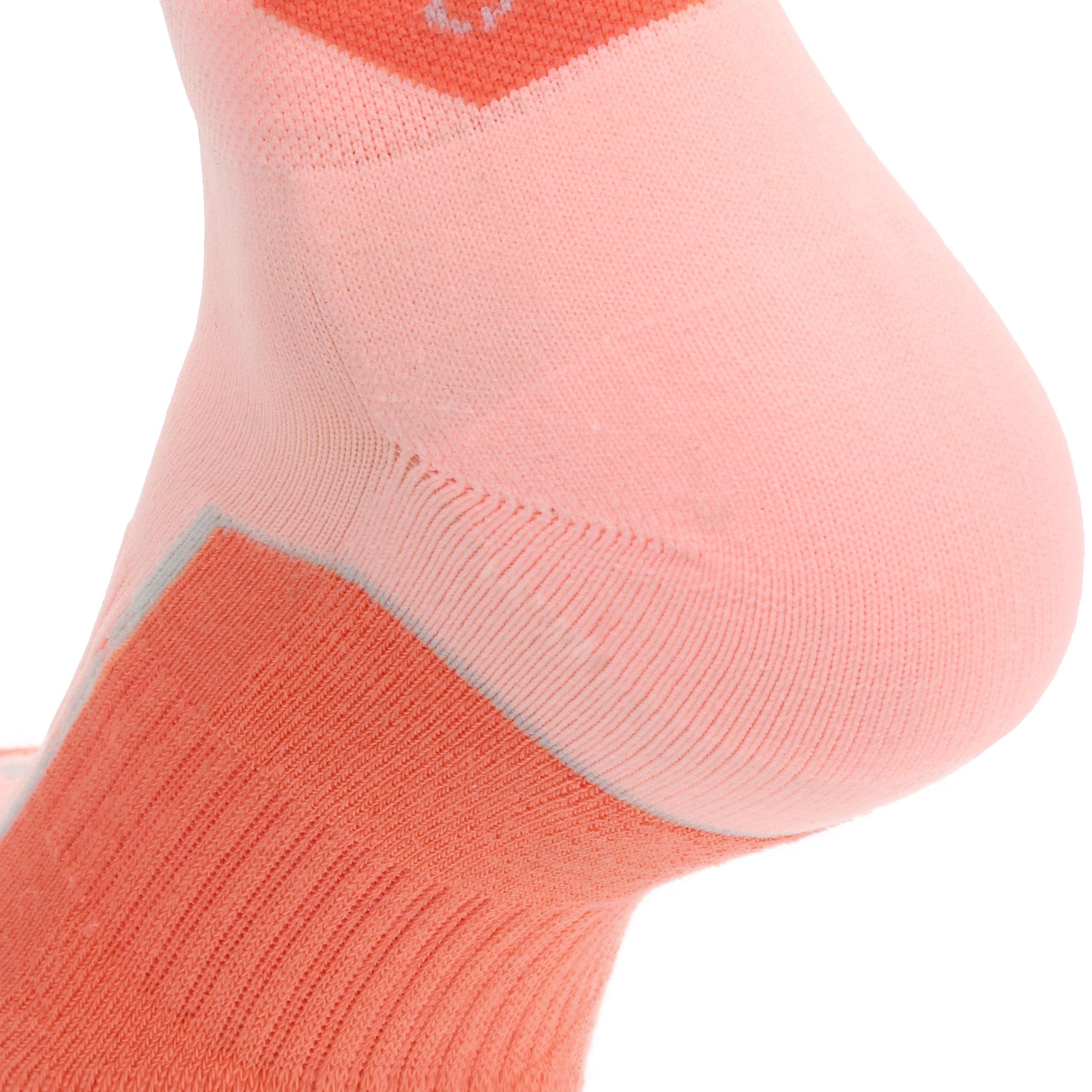 Short upper Nature Hiking Socks . Arpenaz 100 2 Pairs - Coral