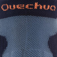 2 pares de calcetines de travesía arriba del tobillo adulto Forclaz 500 Azul