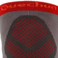 Calcetines largos de senderismo montaña 2 pares Forclaz 520 rojo