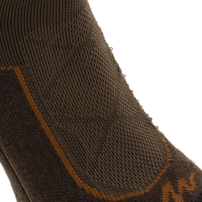 Chaussettes de randonnée montagne tiges high. 2 paires Forclaz 900 marron