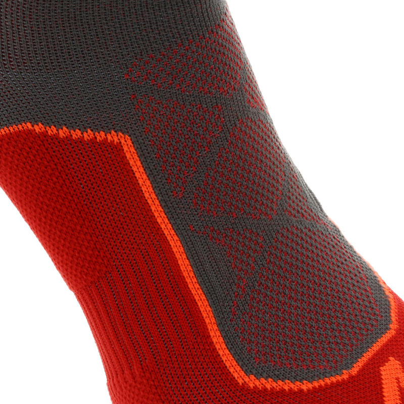 Mountain Hiking High Socks. MH 520 2 Pairs - Red