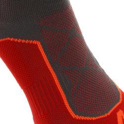 High-top mountain walking socks. MH 520 2 Pairs - Red