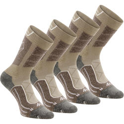 High-top mountain walking socks. MH 900 2 Pairs - beige