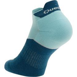 Low Cut Nature Hiking Socks. Arpenaz 100 2 Pairs - Sky Blue