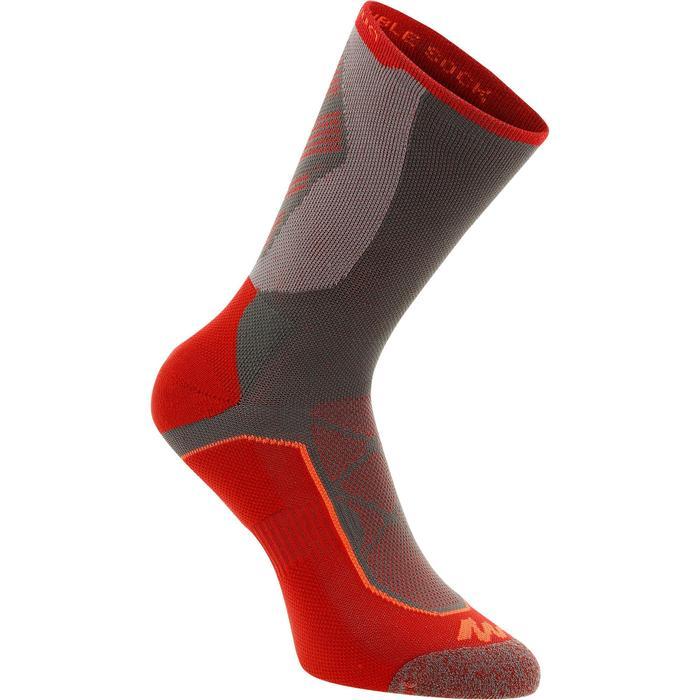 高筒登山健行襪。兩雙入MH 520-紅色