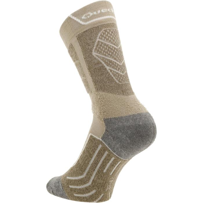 Chaussettes de randonnée montagne tiges high. 2 paires MH 900 beige