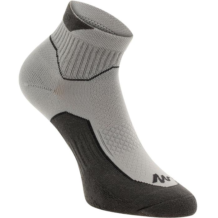 Country walking Mid socks X 2 pairs NH 500 - Grey
