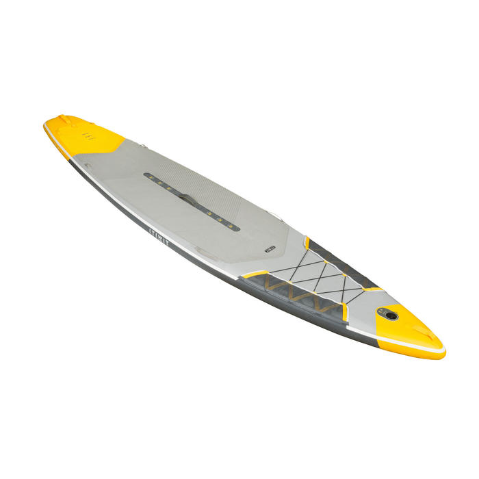 "SUP-Board Stand Up Paddle aufblasbar Touring Racing 500 12'6–32"" gelb"