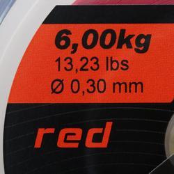 Schuurvaste lijn rood 1000 m voor zeehengelen