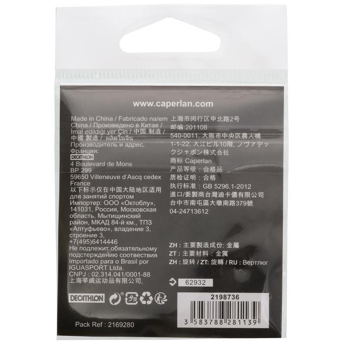 Speldconnector hengelsport Snap Black Nickel X10