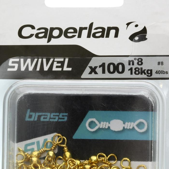 ÉMERILLON PÊCHE SWIVEL BRASS SW X100 - 1130247