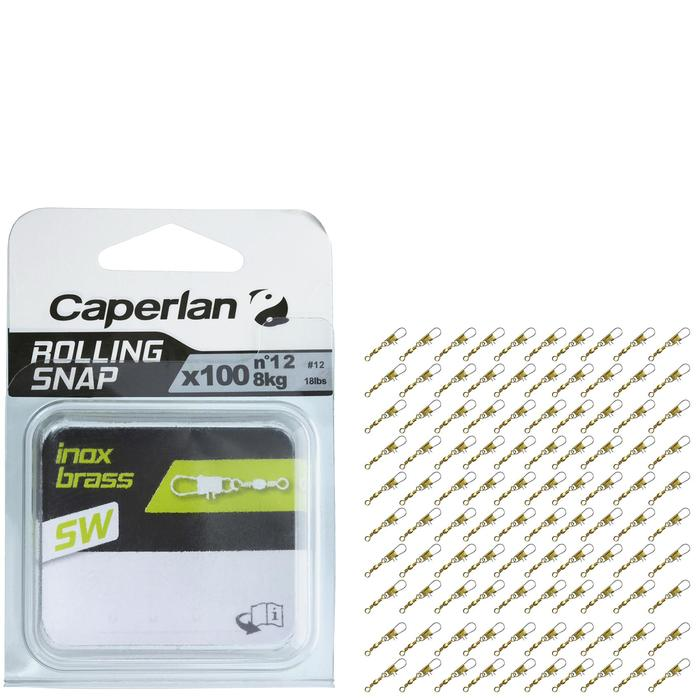 ÉMERILLON AGRAFE ROLLING SNAP INOX BRASS SW X100 - 1130262