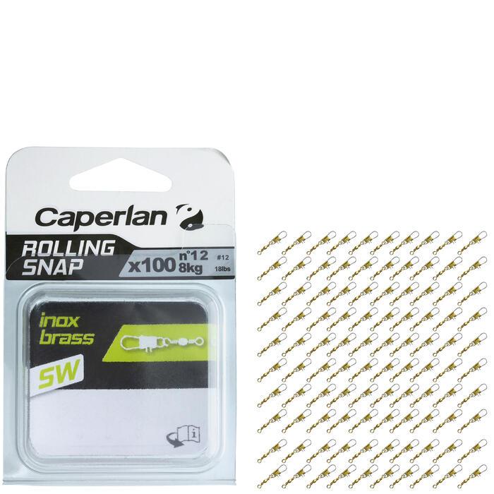 Set speldconnectoren met wartel rolling snap rvs brassl x100