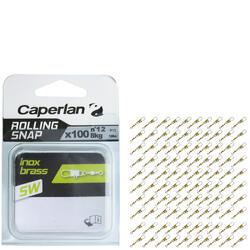 Set speldconnectoren met wartel rolling snap rvs brassl SWX100