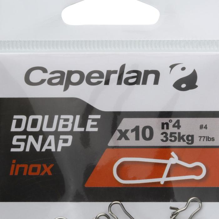 FISHING SNAP DOUBLE SNAP STAINLESS X10