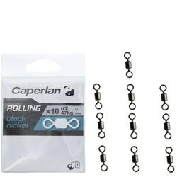 ÉMERILLON PÊCHE ROLLING BLACK NICKEL X10