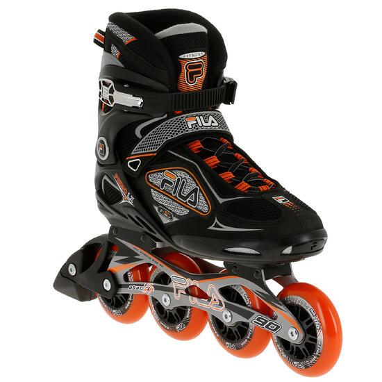 Fitness skates Primo LX 90 voor heren zwart/oranje - 11303