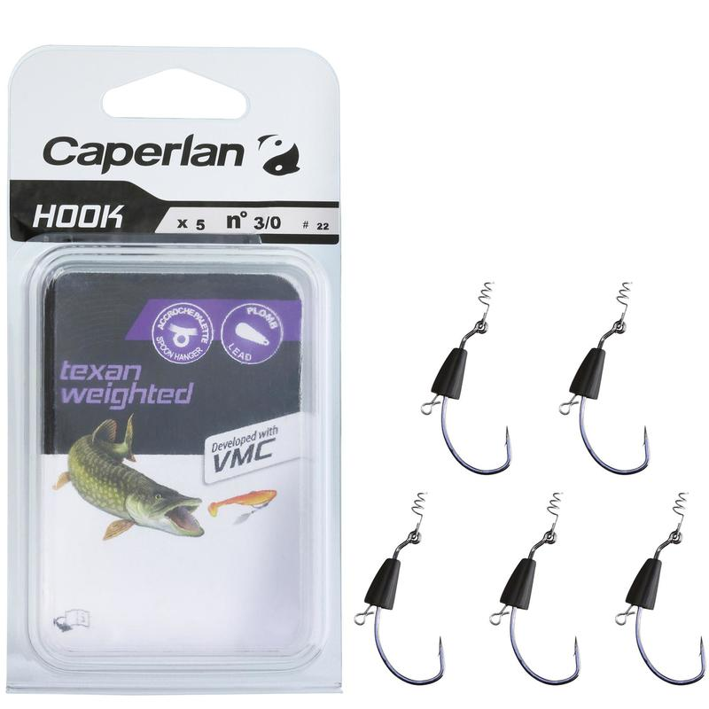 ANZUELO TEJANO PESCA HOOK TEXAN WEIGHTED 3/0