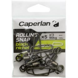Speldwartel voor hengelsport Rolling Snap Black Nickel SW x5
