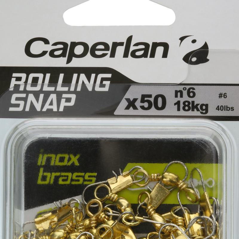 Émerillon pêche rolling snap INOX BRASS SW x50