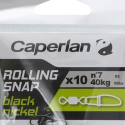 Speldconnector met wartel rolling snap black nickel