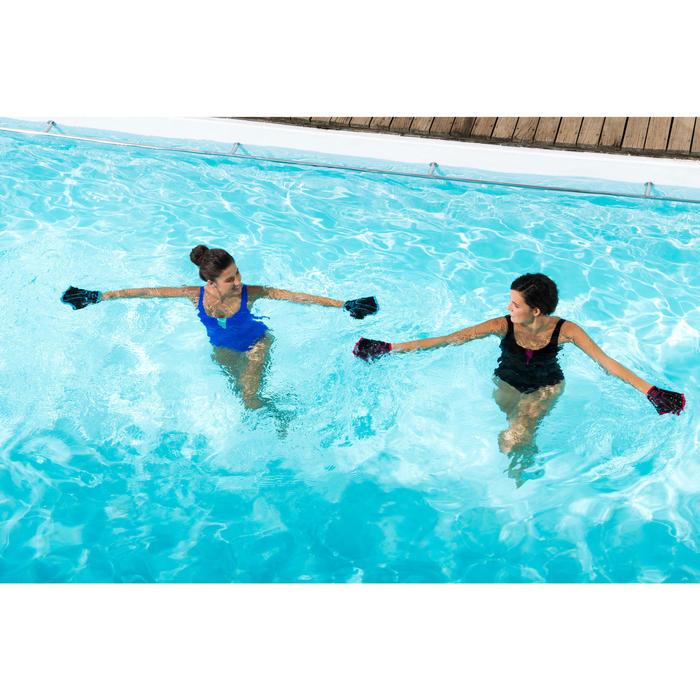 Zwemhandschoenen aquagym blauw
