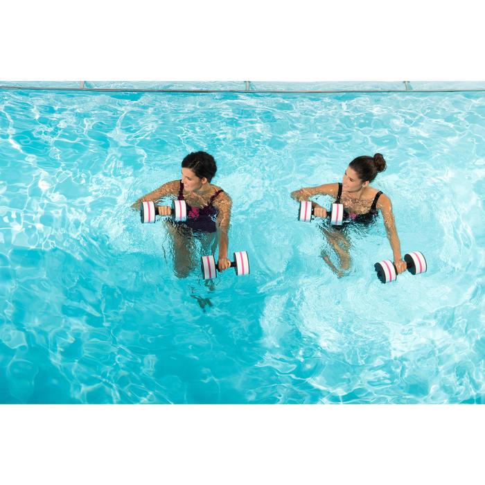 Damesbadpak voor aquagym Karol zwart/roze
