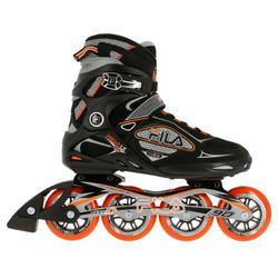 Fitness skates Primo LX 90 voor heren zwart/oranje - 11305