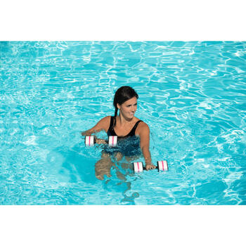 Maillot de bain d'aquagym gainant une pièce femme Karli All Lace bleu