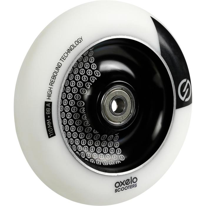 RUEDA PATINETE FREESTYLE 110 mm BLANCO/NEGRO