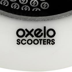 Vol wiel voor freestylestep zwart aluminium wit polyurethaan 110 mm