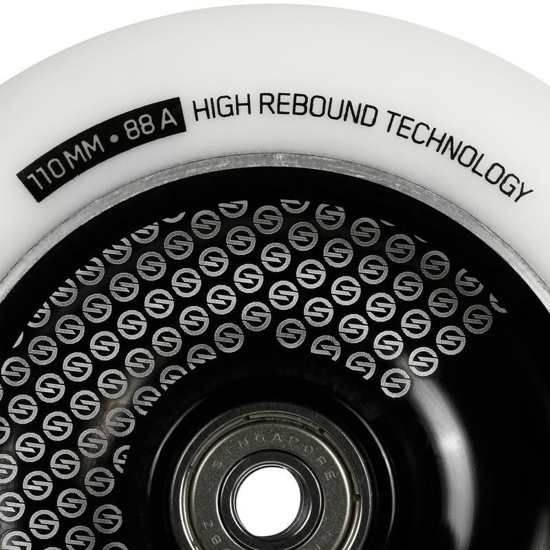110mm Black Alu White PU Freestyle Scooter Wheel