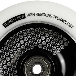 110mm Black Alu White PU Freestyle Scooter Wheel