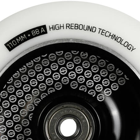 Freestyle Scooter Aluminium Wheel 110 mm - White/Black